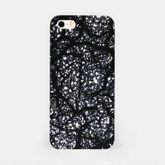 Black and White Dark Abstract Texture Print iPhone Case obraz miniatury