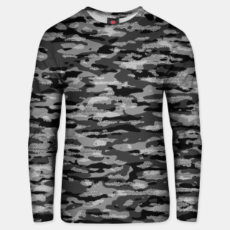 Miniatur Snow Camouflage Pattern Mosaic Style Unisex sweatshirt, Live Heroes