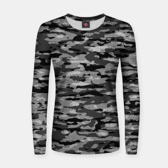 Thumbnail image of Snow Camouflage Pattern Mosaic Style Frauen sweatshirt, Live Heroes