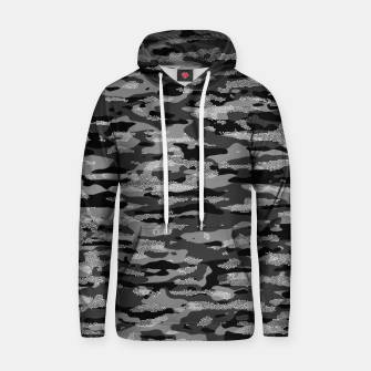 Miniatur Snow Camouflage Pattern Mosaic Style Kapuzenpullover, Live Heroes