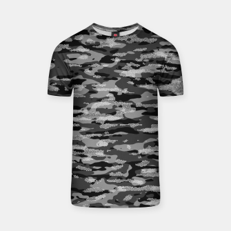 Miniatur Snow Camouflage Pattern Mosaic Style T-Shirt, Live Heroes