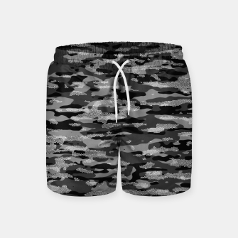 Miniatur Snow Camouflage Pattern Mosaic Style Badeshorts, Live Heroes