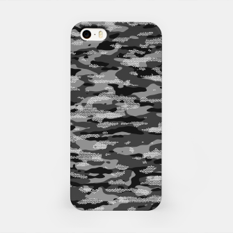 Miniatur Snow Camouflage Pattern Mosaic Style iPhone-Hülle, Live Heroes