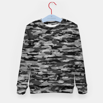 Thumbnail image of Snow Camouflage Pattern Mosaic Style Kindersweatshirt, Live Heroes