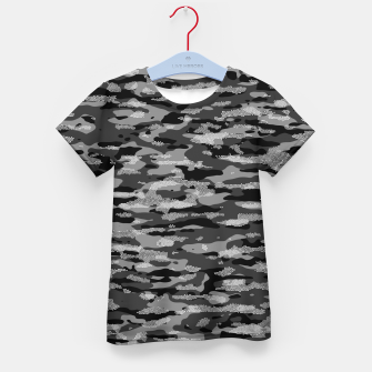 Thumbnail image of Snow Camouflage Pattern Mosaic Style T-Shirt für kinder, Live Heroes