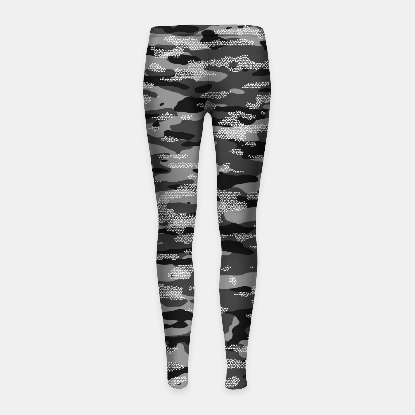 Image of Snow Camouflage Pattern Mosaic Style Kinder-Leggins - Live Heroes
