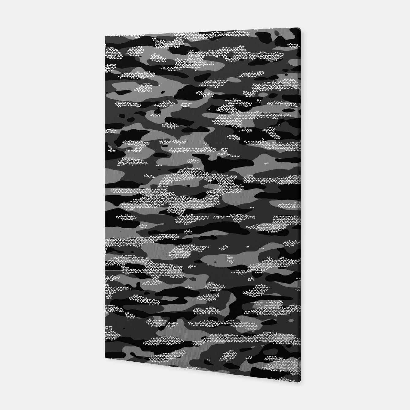 Foto Snow Camouflage Pattern Mosaic Style Canvas - Live Heroes