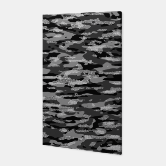 Miniatur Snow Camouflage Pattern Mosaic Style Canvas, Live Heroes