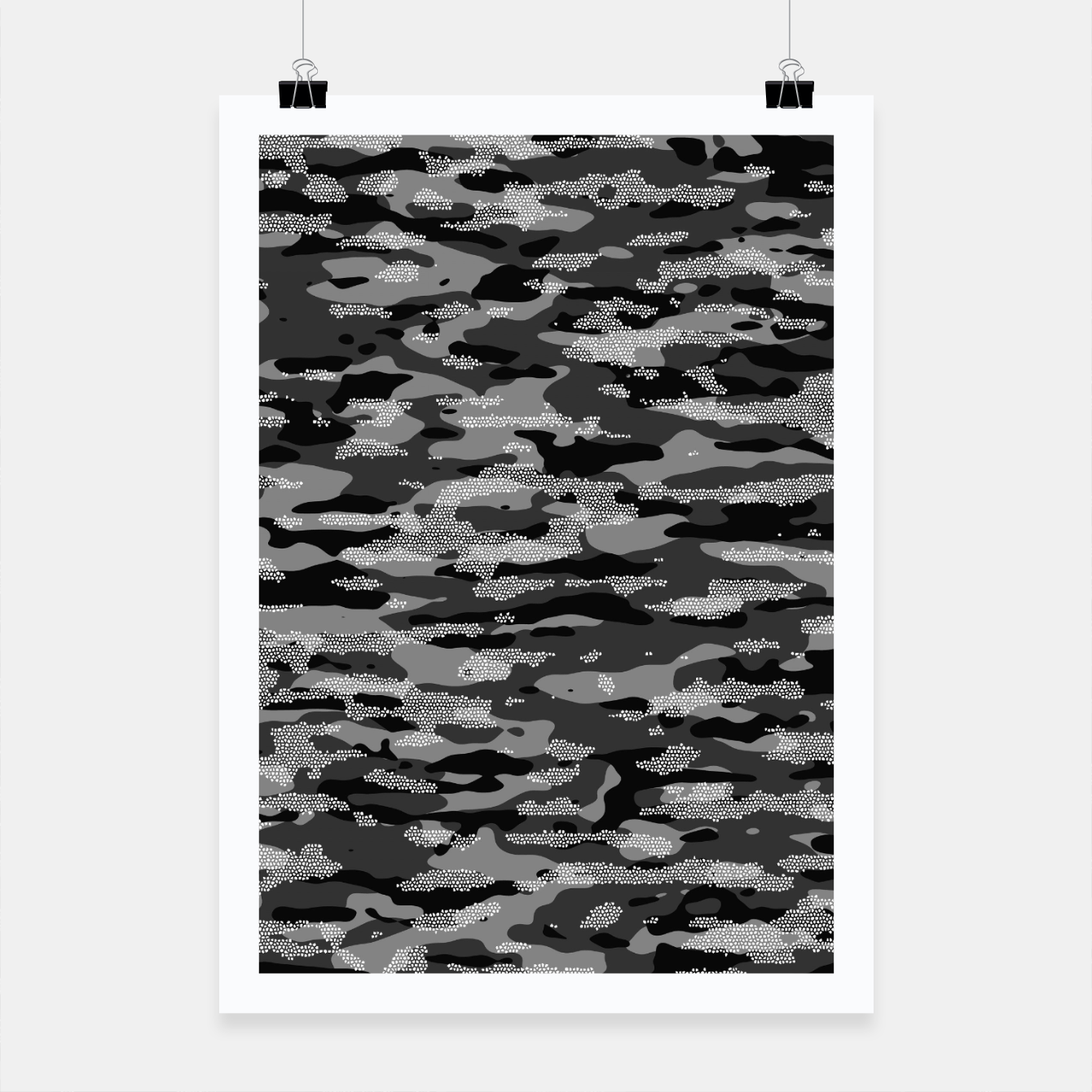Image of Snow Camouflage Pattern Mosaic Style Plakat - Live Heroes