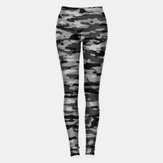 Miniatur Snow Camouflage Pattern Mosaic Style Leggings, Live Heroes