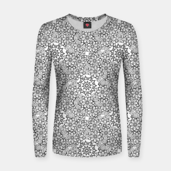 Floral - BW - Mandala Pattern - 02 Women sweater miniature