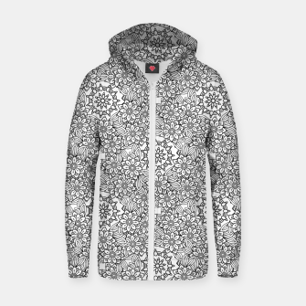 Floral - BW - Mandala Pattern - 02 Zip up hoodie miniature