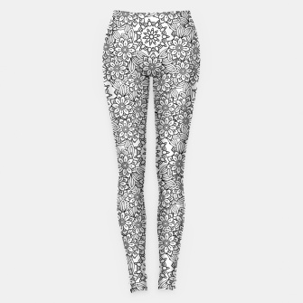 Floral - BW - Mandala Pattern - 02 Leggings miniature