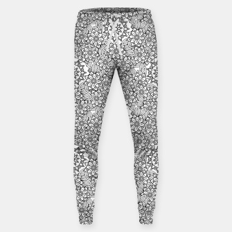 Floral - BW - Mandala Pattern - 02 Sweatpants miniature