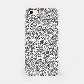 Floral - BW - Mandala Pattern - 02 iPhone Case miniature
