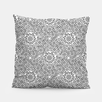 Floral - BW - Mandala Pattern - 02 Pillow miniature