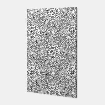 Floral - BW - Mandala Pattern - 02 Canvas miniature