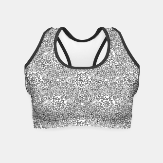 Thumbnail image of Floral - BW - Mandala Pattern - 02 Crop Top, Live Heroes