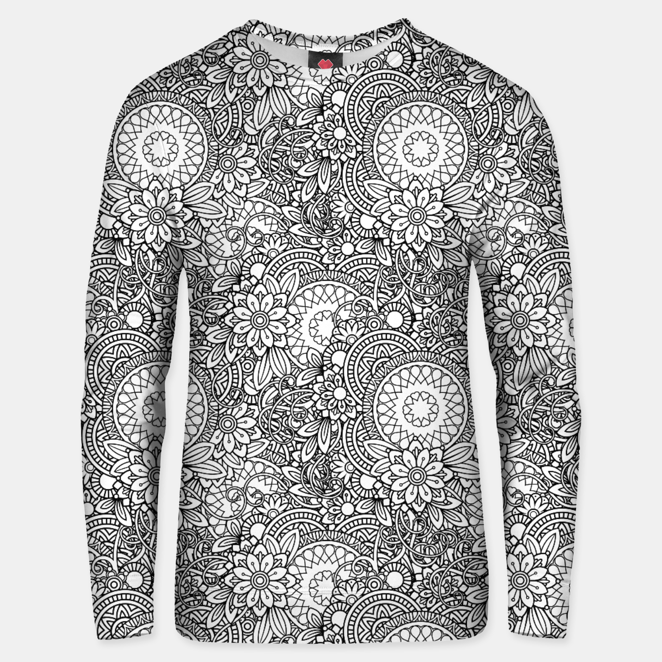 Foto Floral - BW - Mandala Pattern - 03 Unisex sweater - Live Heroes
