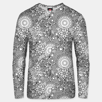 Miniatur Floral - BW - Mandala Pattern - 03 Unisex sweater, Live Heroes