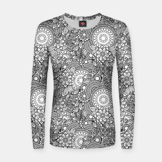 Floral - BW - Mandala Pattern - 03 Women sweater miniature