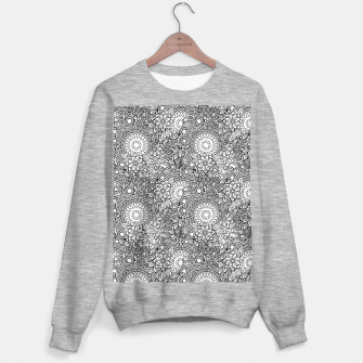 Floral - BW - Mandala Pattern - 03 Sweater regular miniature