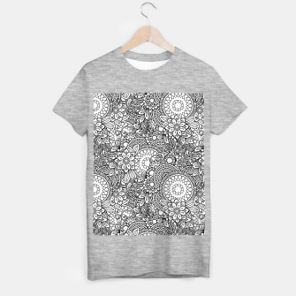 Floral - BW - Mandala Pattern - 03 T-shirt regular miniature