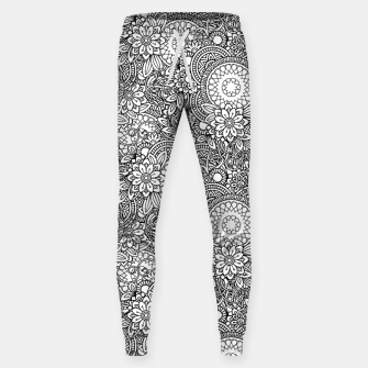 Floral - BW - Mandala Pattern - 03 Sweatpants miniature