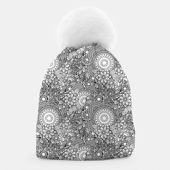 Thumbnail image of Floral - BW - Mandala Pattern - 03 Beanie, Live Heroes