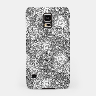 Miniatur Floral - BW - Mandala Pattern - 03 Samsung Case, Live Heroes