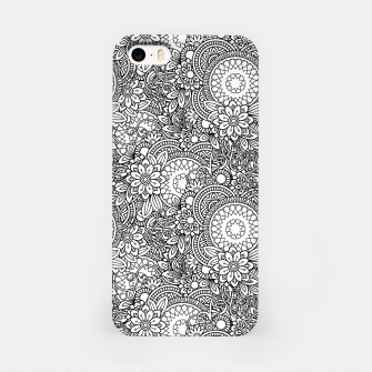 Floral - BW - Mandala Pattern - 03 iPhone Case miniature