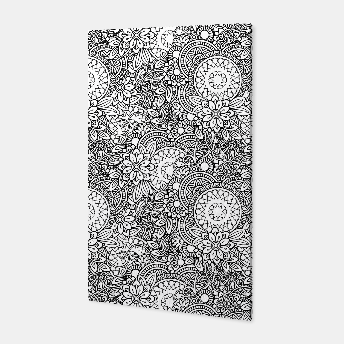 Foto Floral - BW - Mandala Pattern - 03 Canvas - Live Heroes