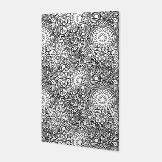 Floral - BW - Mandala Pattern - 03 Canvas miniature