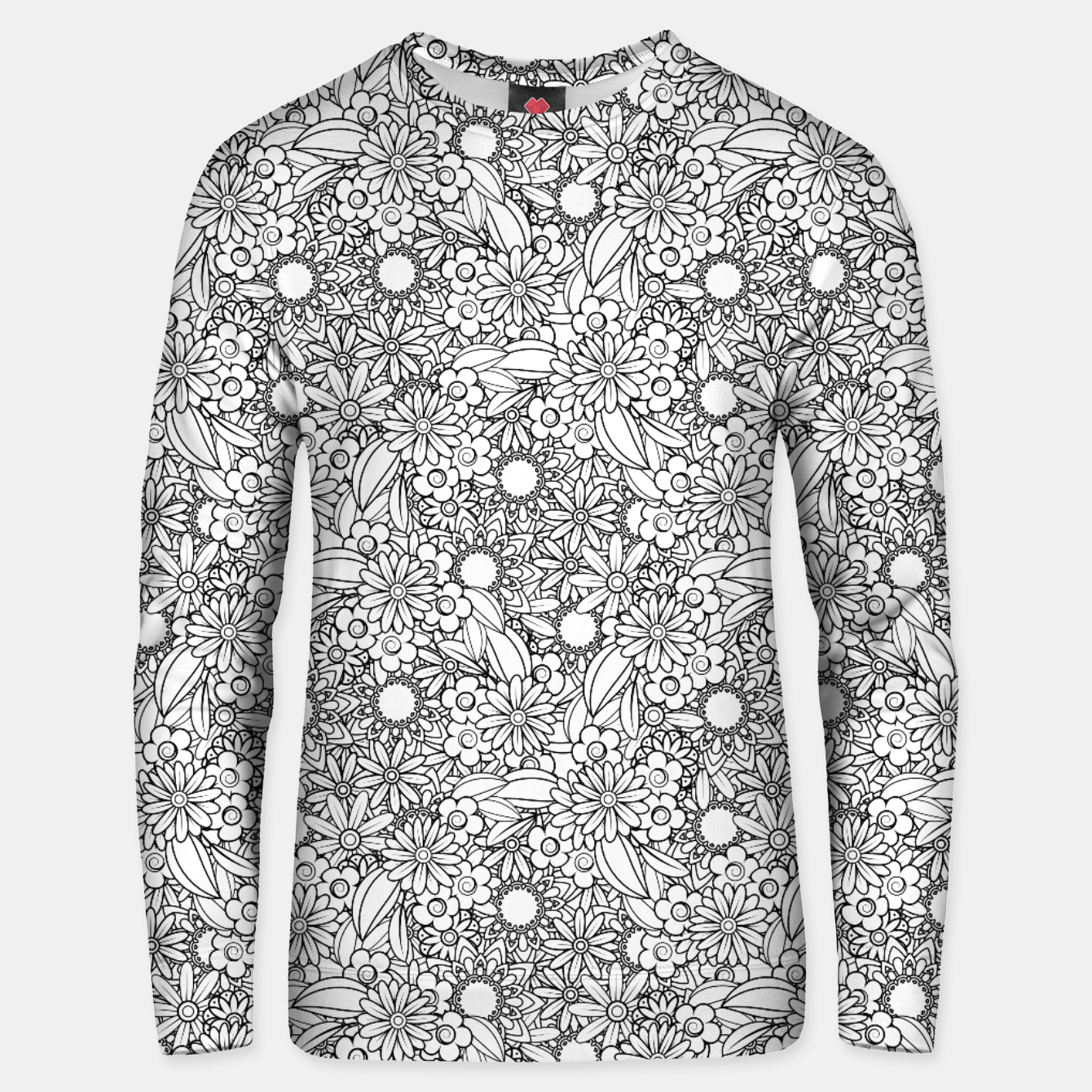 Image de Floral - BW - Mandala Pattern - 04 Unisex sweater - Live Heroes