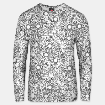 Miniatur Floral - BW - Mandala Pattern - 04 Unisex sweater, Live Heroes