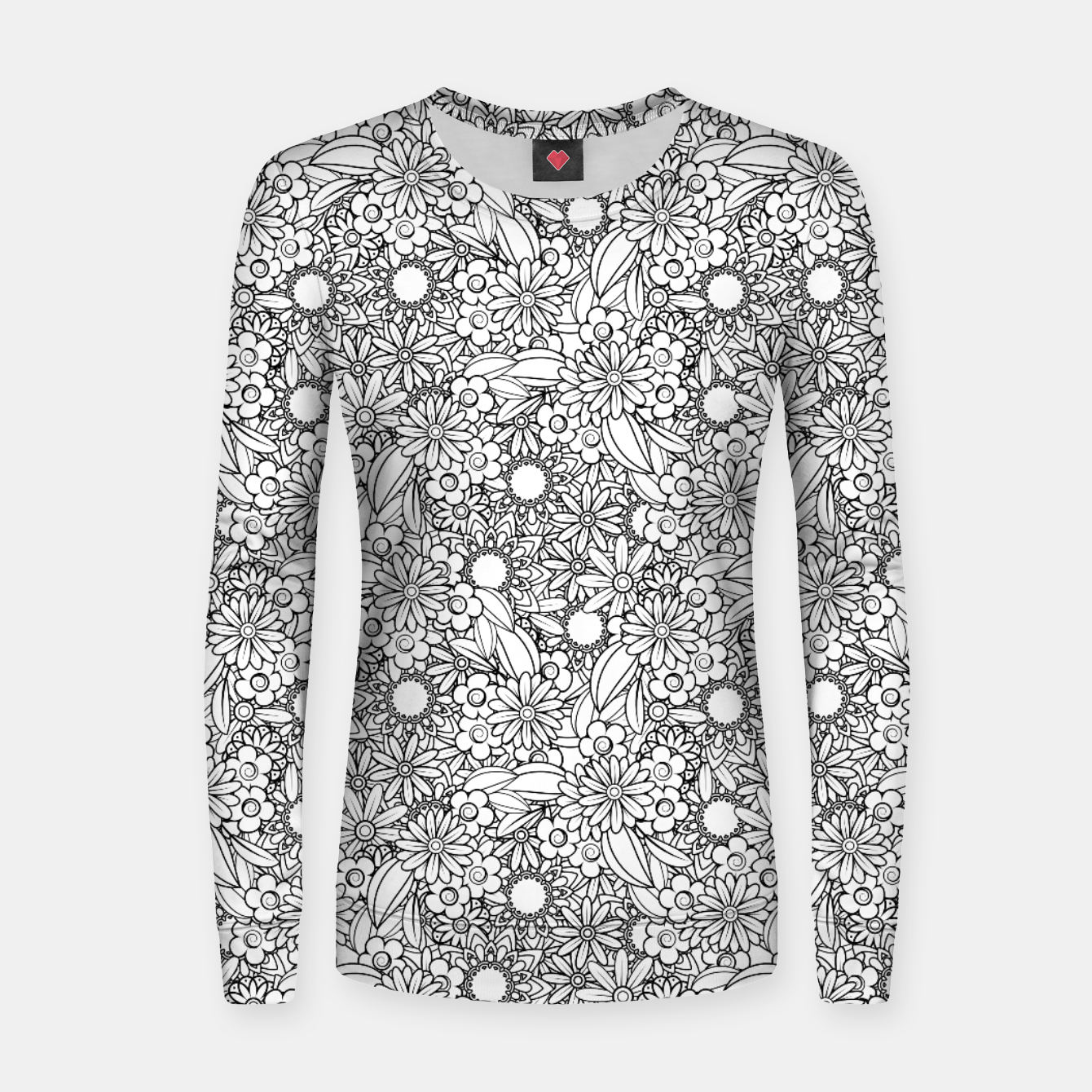 Image of Floral - BW - Mandala Pattern - 04 Women sweater - Live Heroes