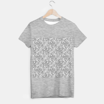 Floral - BW - Mandala Pattern - 04 T-shirt regular miniature