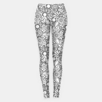 Floral - BW - Mandala Pattern - 04 Leggings miniature