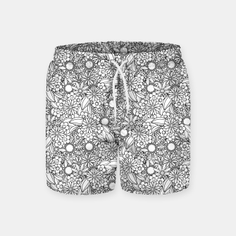 Floral - BW - Mandala Pattern - 04 Swim Shorts miniature