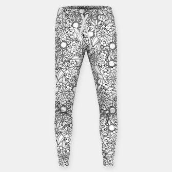 Floral - BW - Mandala Pattern - 04 Sweatpants miniature