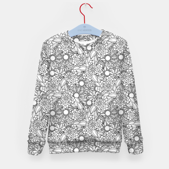 Floral - BW - Mandala Pattern - 04 Kid's sweater miniature