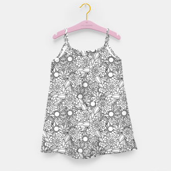 Floral - BW - Mandala Pattern - 04 Girl's dress miniature