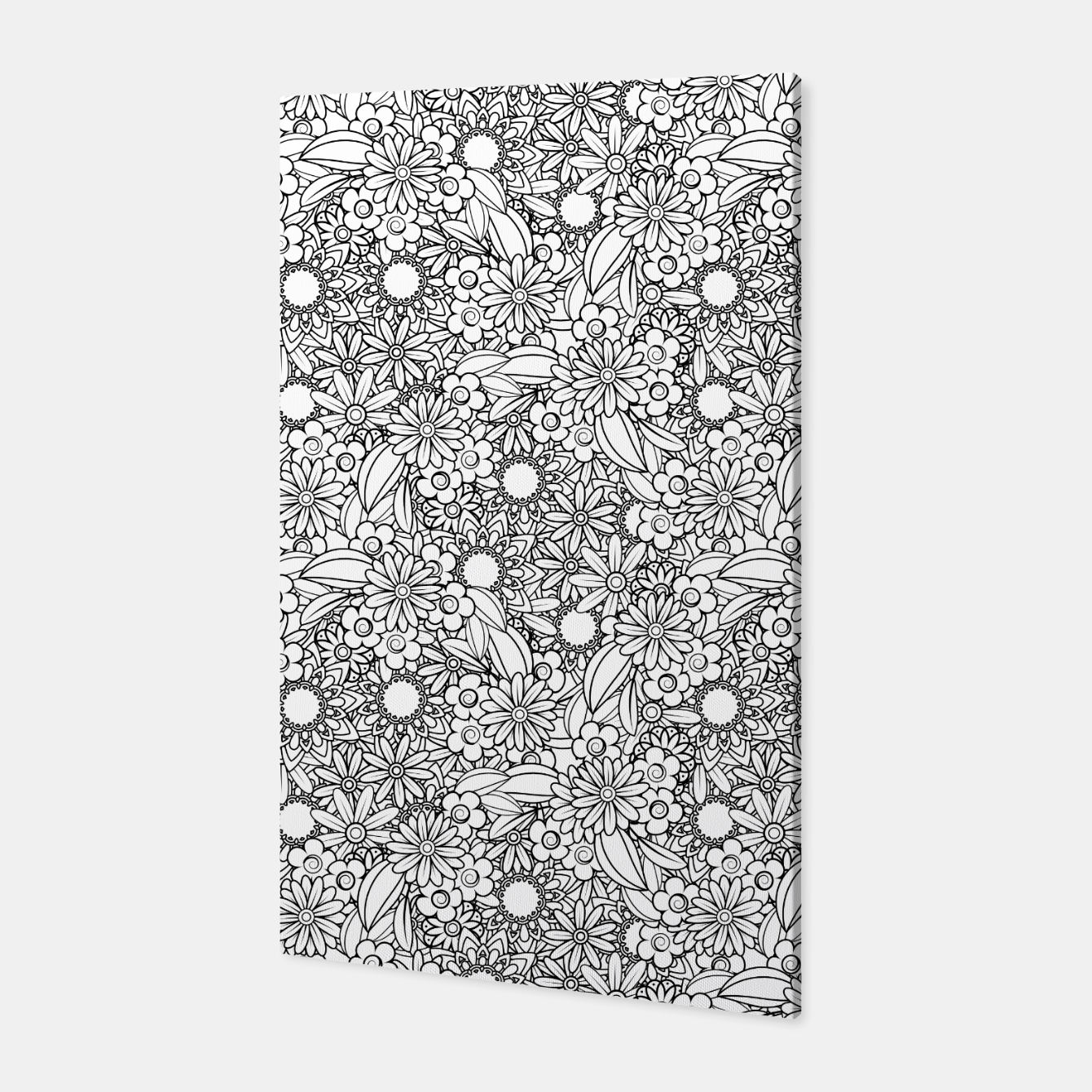 Foto Floral - BW - Mandala Pattern - 04 Canvas - Live Heroes