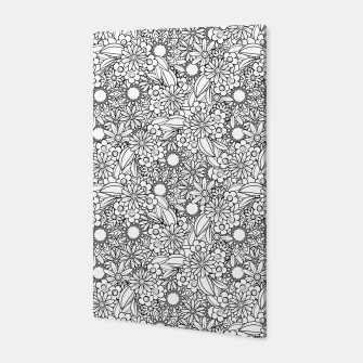 Floral - BW - Mandala Pattern - 04 Canvas miniature