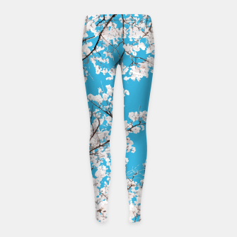 Thumbnail image of White Blossom Girl's leggings, Live Heroes