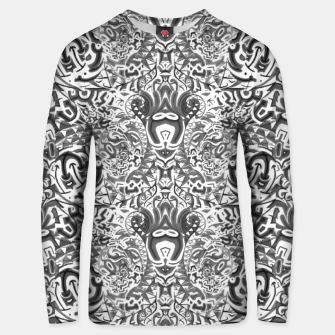 Thumbnail image of black and white portal close pattern inverted Unisex sweater, Live Heroes