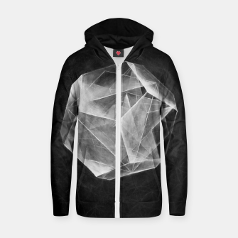 "Thumbnail image of Black and grey ""Art-I-Fact""  Zip up hoodie, Live Heroes"