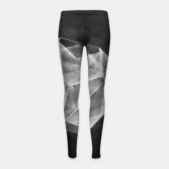 "Thumbnail image of Black and grey ""Art-I-Fact""  Girl's leggings, Live Heroes"
