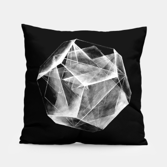 "Thumbnail image of Black and white ""Art-I-Fact"" Pillow Pillow, Live Heroes"