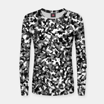 Thumbnail image of Snow Pattern Camouflage Style Frauen sweatshirt, Live Heroes